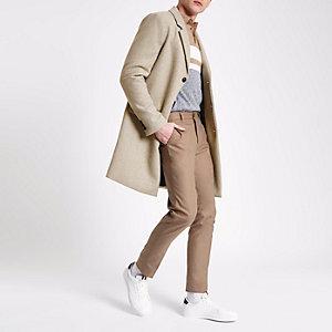Stone wool blend overcoat