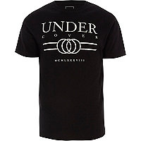 Black 'undercover' print slim fit T-shirt