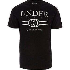 Zwart slim-fit T-shirt met 'Undercover'-print