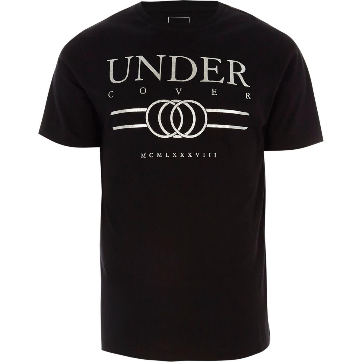 T-shirt slim imprimé «undercover» noir