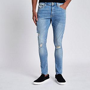 Danny – Jean super skinny bleu clair déchiré