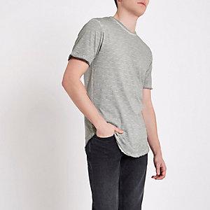 Only & Sons grey slub T-shirt