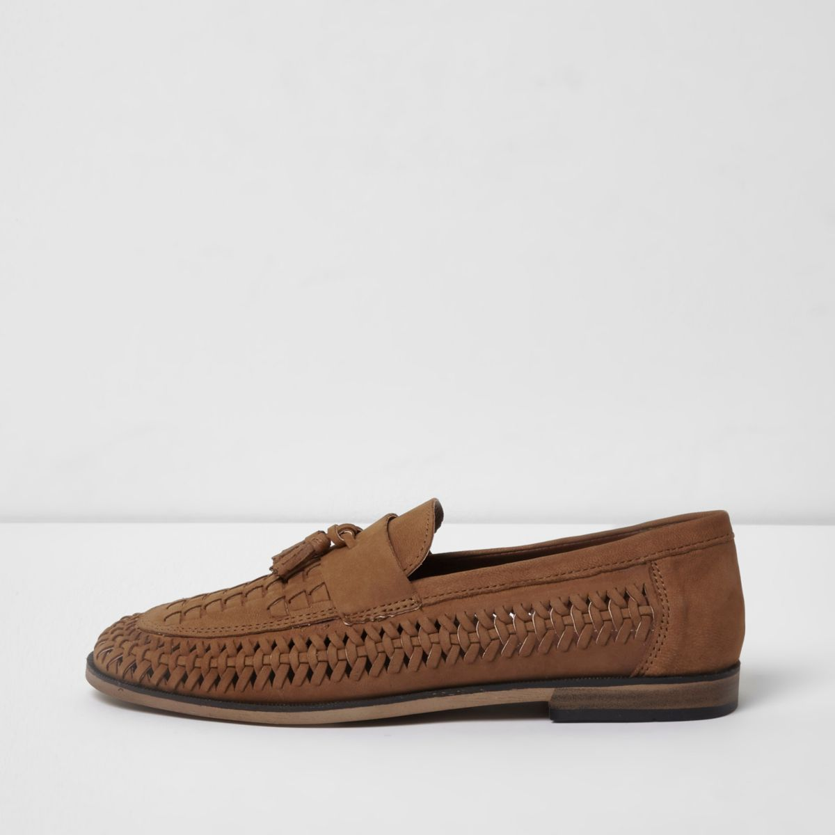 Mens Tan Shoes River Island