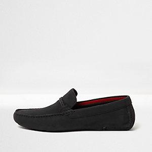 Chaussures de conduite tressées noires à mors