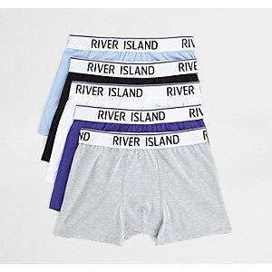 Blue RI waistband trunks multipack