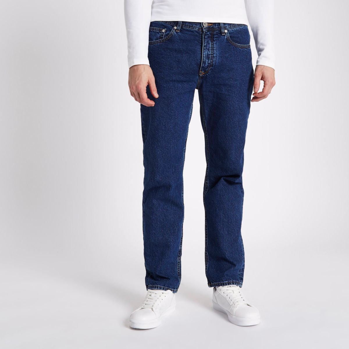 Dark blue Bobby standard jeans