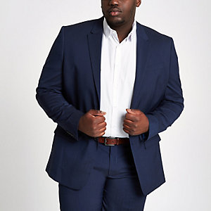 Big and Tall navy suit jacket