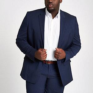 Big & Tall – Marineblaue Slim Fit Anzugjacke