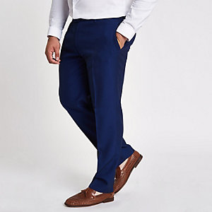 Big & Tall - Blauwe slim-fit pantalon