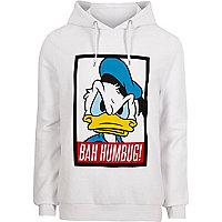 White Donald Duck Christmas hoodie