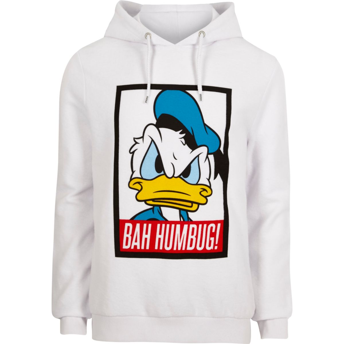 White Donald Duck Christmas hoodie