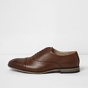 Tan brown lace-up brogues