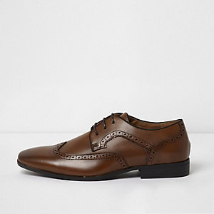 Tan smart brogues