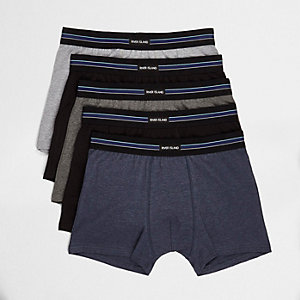 Grey RI branded trunks multipack