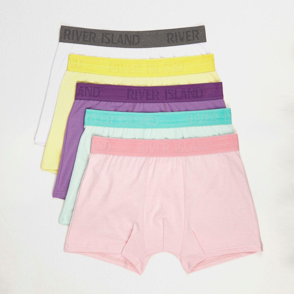 Pastel pink RI branded trunks multipack