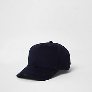 Navy distressed baseball cap