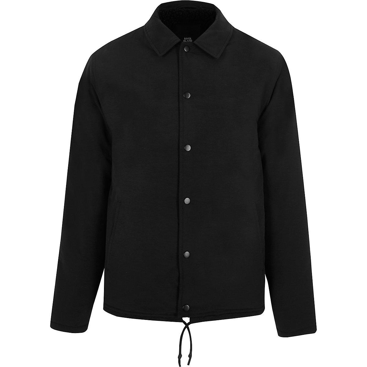 Black fleece lined coach jacket