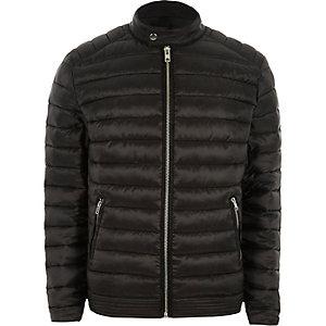 Black padded racer neck jacket