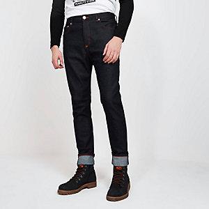 Blood Brother – Marineblaue, schmal zulaufende Jeans