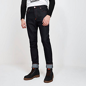 Blood Brother - Marineblauwe smaltoelopende jeans