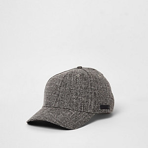 Grey textured baseball cap