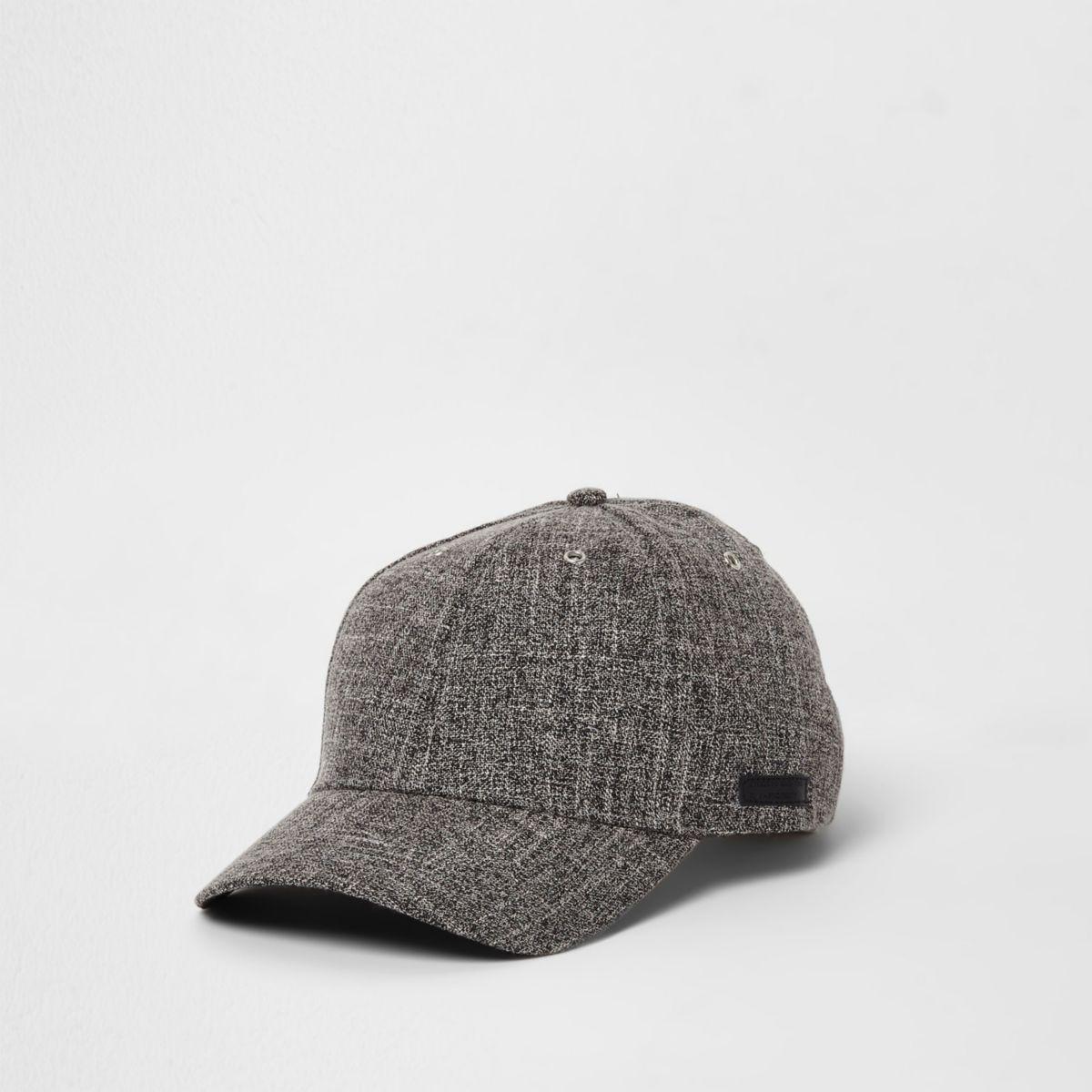 Grey textured baseball cap