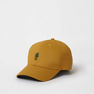 Yellow pineapple baseball cap