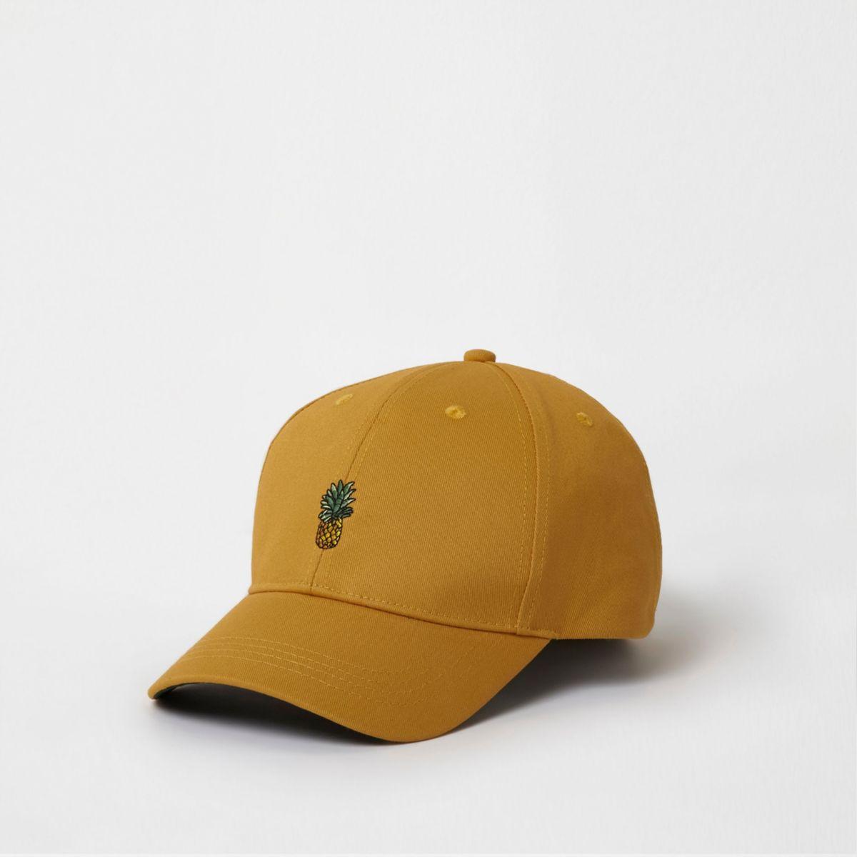 Yellow pineapple baseball cap