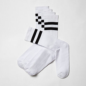 White tube socks multipack