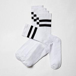 Lot de chaussettes tubes blanches