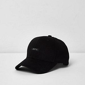 Schwarze Baseball-Kappe