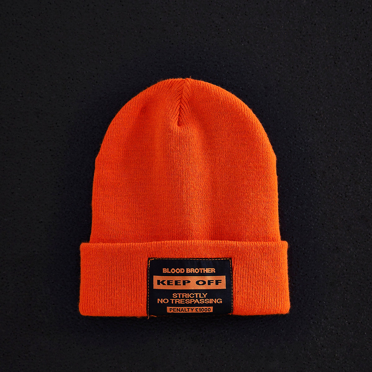 Orange Blood Brother beanie hat