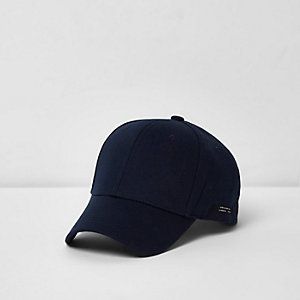 Marineblauwe baseballpet