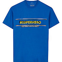 Blue 'superhero' The Mix charity T-shirt