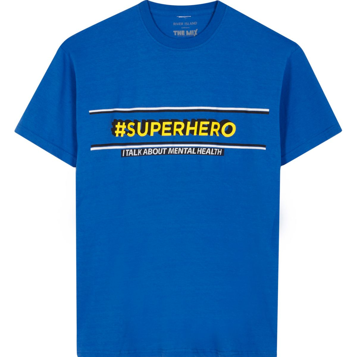 The Mix charity – T-shirt « superhero » bleu