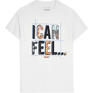 """Weißes T-Shirt """"I can feel"""""""