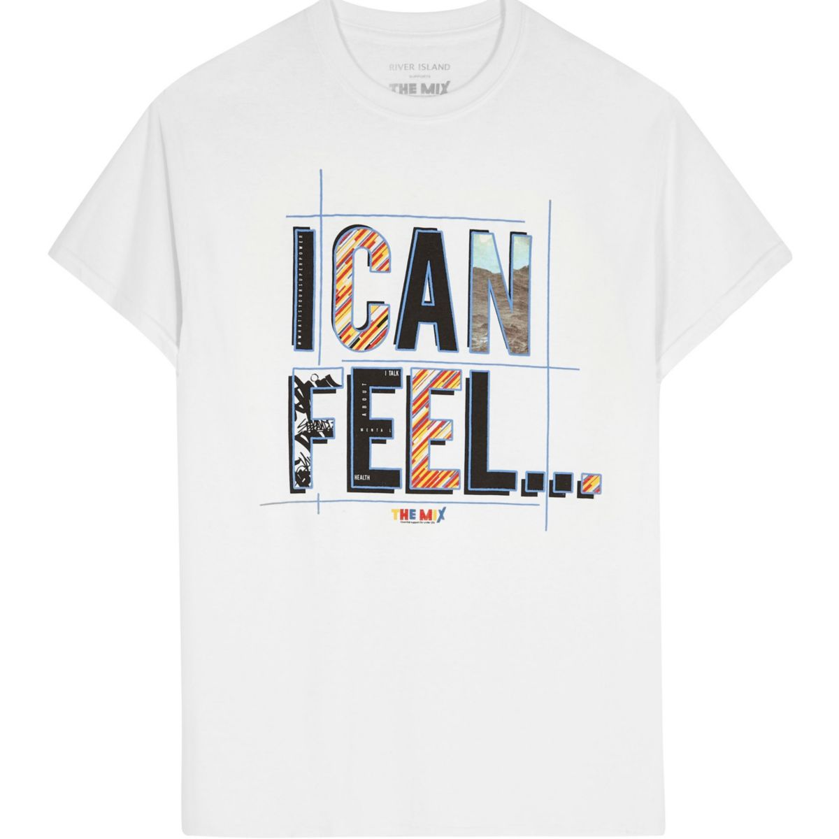 White 'i Can Feel' The Mix Charity T Shirt by River Island