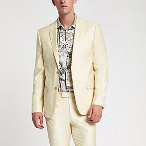 Veste de costume skinny stretch jaune