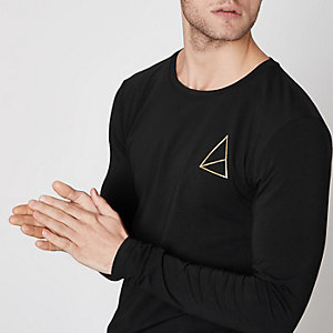 Black Golden Equation long sleeve T-shirt