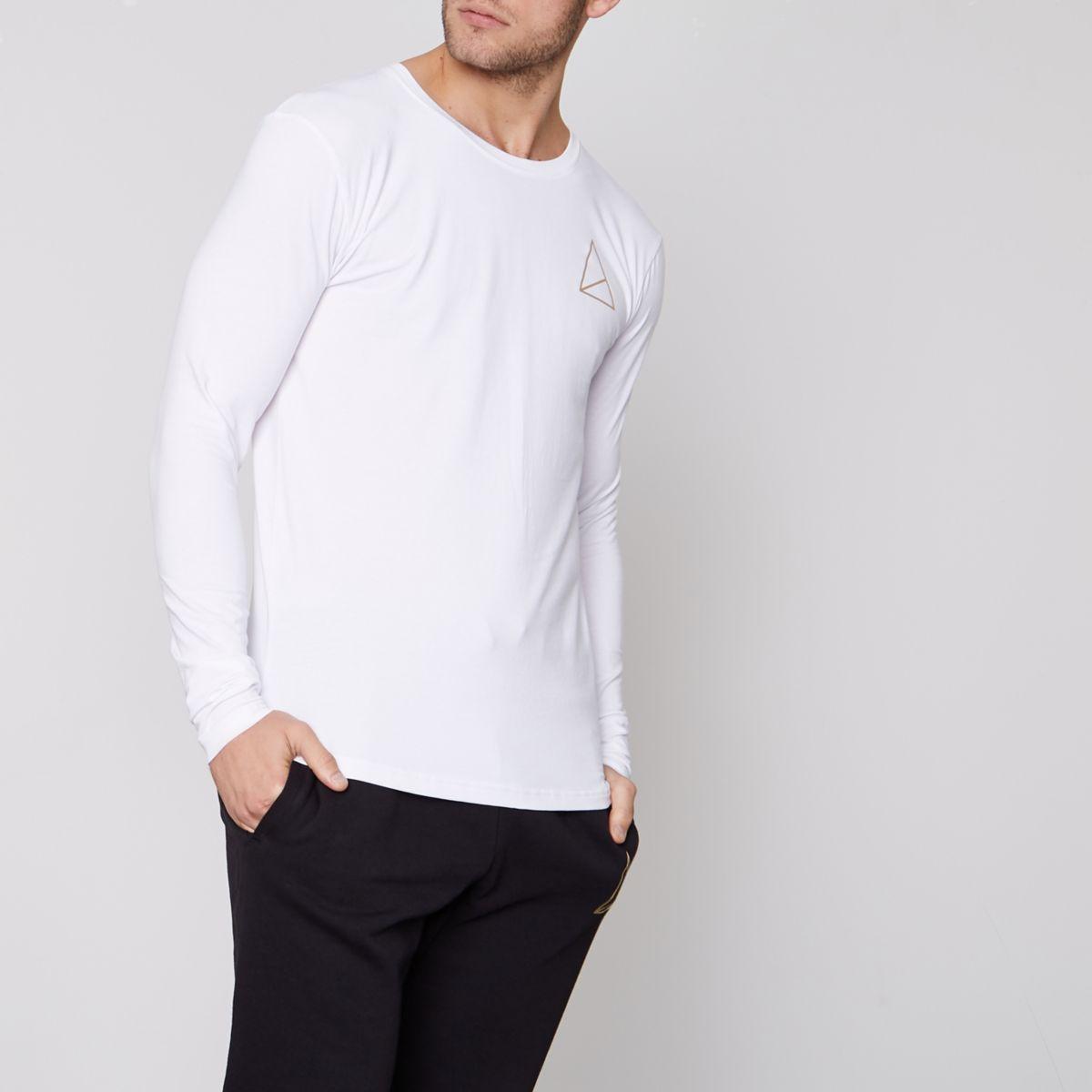 Golden Equation white long sleeve T-shirt
