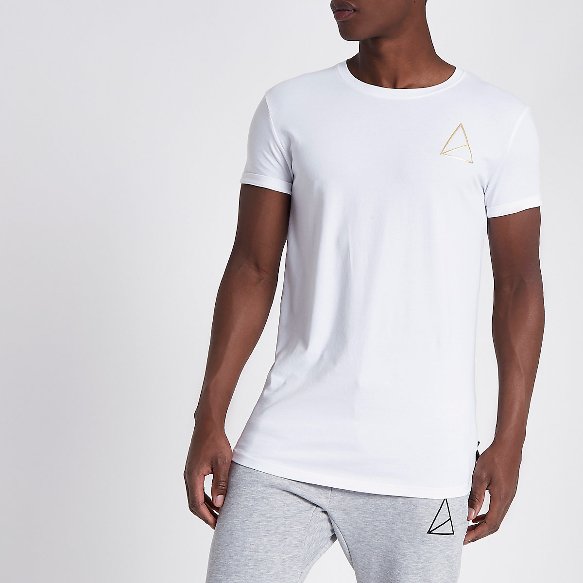 Golden Equation white muscle fit T-shirt
