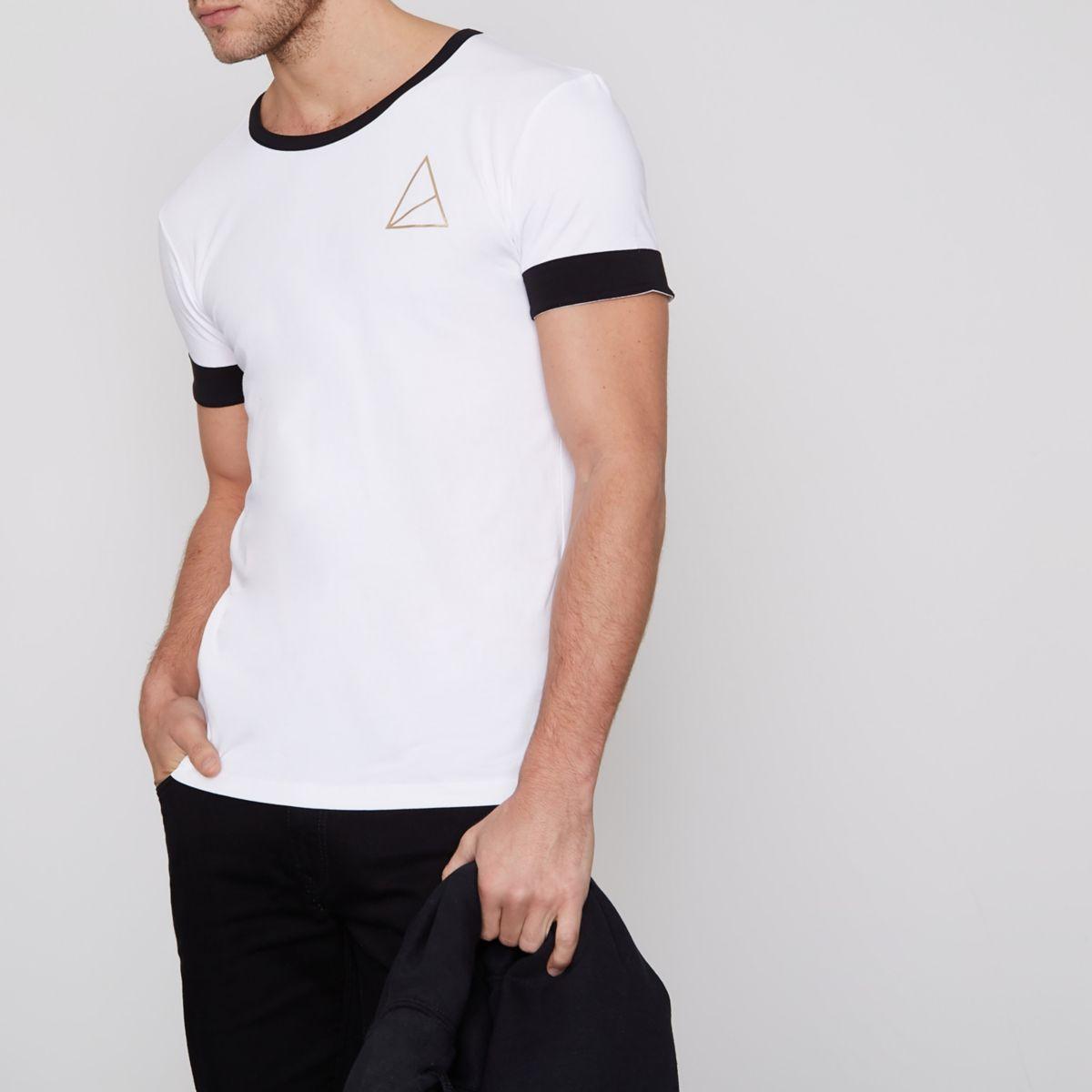 Golden Equation – T-shirt noir à bordures contrastantes