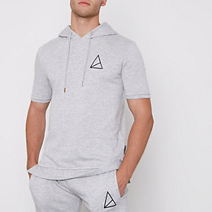 Golden Equation – Sweat gris à capuche et manches courtes
