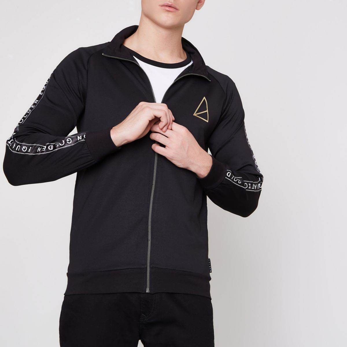 Golden Equation black zip up track top