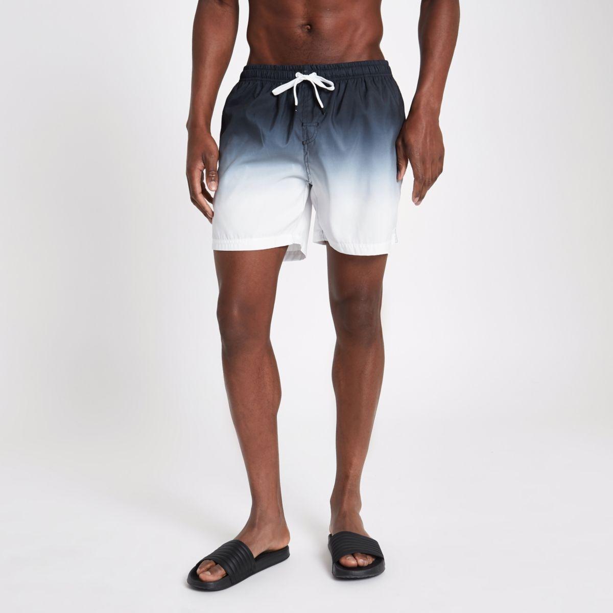Zwarte dip-dye zwemshort
