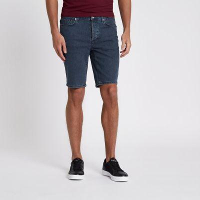 River Island Short en jean skinny bleu moyen