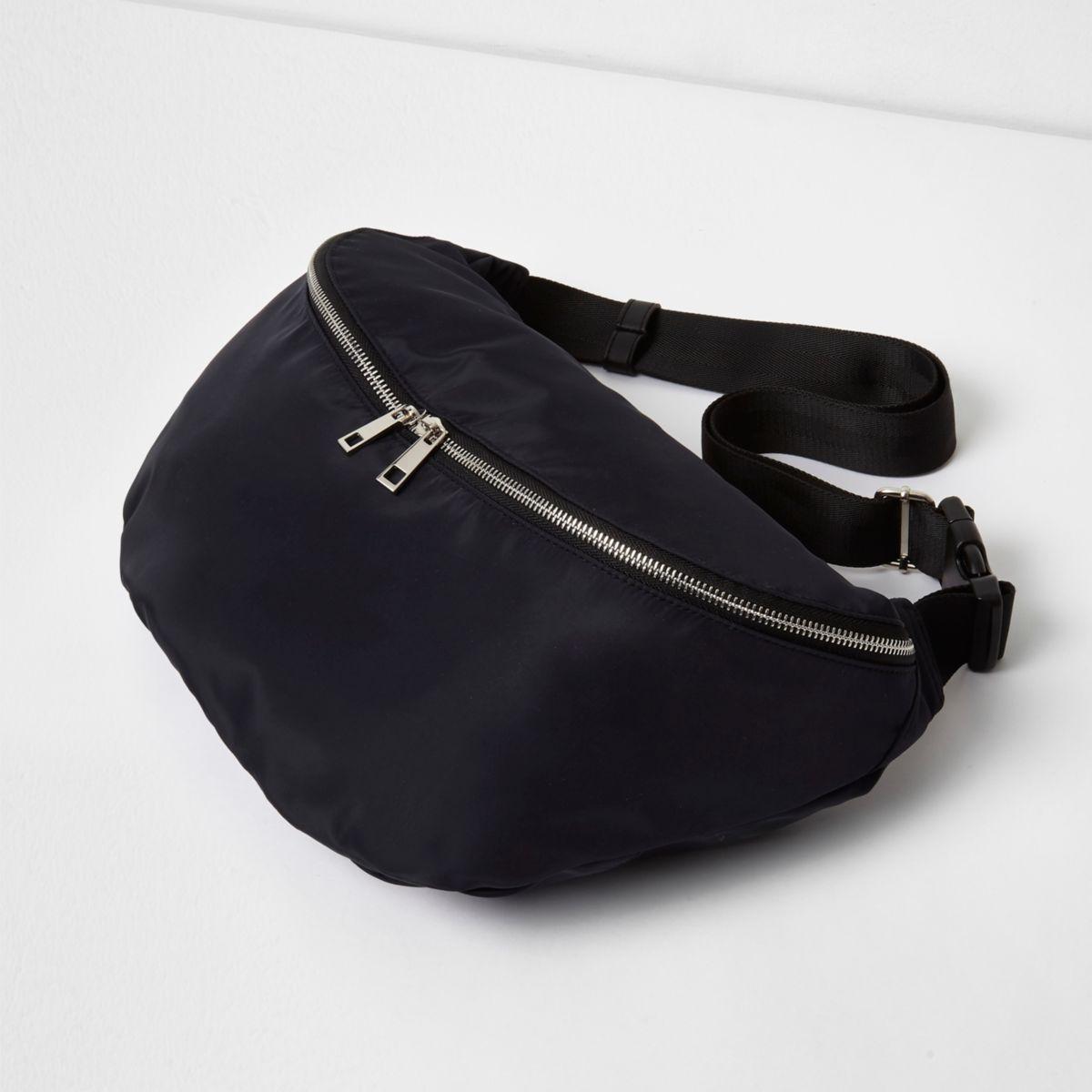 Black sling crossbody bag
