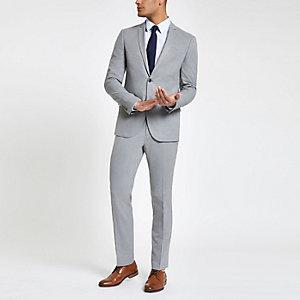 Light grey slim fit suit jacket