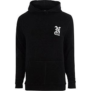 Black 'New Jersey' print hoodie
