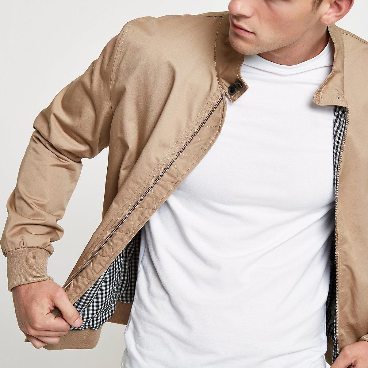 Stone high neck harrington jacket